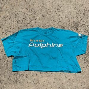 Miami Dolphins Embroidered Crop Top